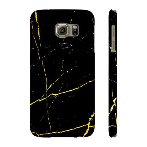 Black & Gold Marble Phone Case - Samsung Galaxy S6 - CinderBloq Cases & Accessories