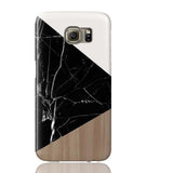 Wood & Black Marble Tangram Phone Case - Samsung Galaxy S6 - Cinderbloq Cases