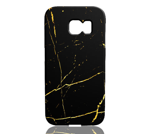 Black & Gold Marble Phone Case - Samsung Galaxy S6 Edge - CinderBloq Cases & Accessories