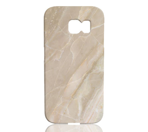 Beige Stone Marble Phone Case - Samsung Galaxy S6 Edge - Cinderbloq Cases & Accessories