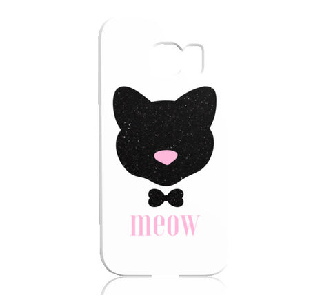 Meow! Glitter Cat Phone Case - Samsung Galaxy S6 Edge - Cinderbloq Cases & Accessories