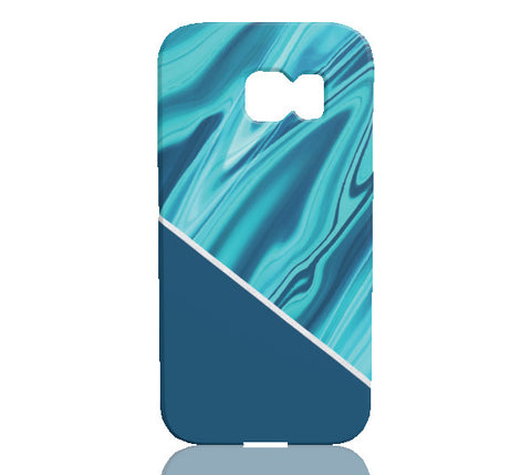 Ocean Blue Marble Phone Case - Samsung Galaxy S6 Edge - Cinderbloq Cases