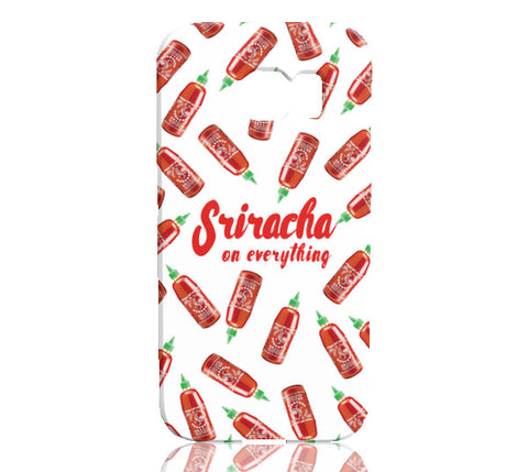 Sriracha Phone Case (White) - Samsung Galaxy S6 Edge - Cinderbloq Cases & Accessories