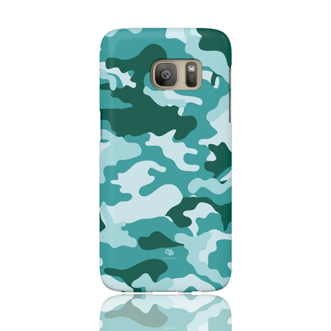 Teal Camo Phone Case - Samsung Galaxy S7 - CinderBloq Cases & Accessories