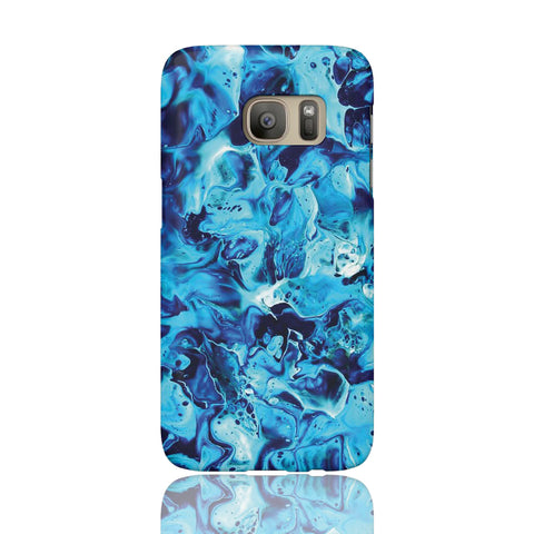 Electric Blue Marble Phone Case - Samsung Galaxy S7