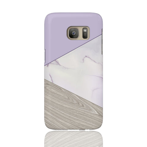 Lavender Wood & Marble Tangram Phone Case - Samsung Galaxy S7 - CinderBloq Cases & Accessories