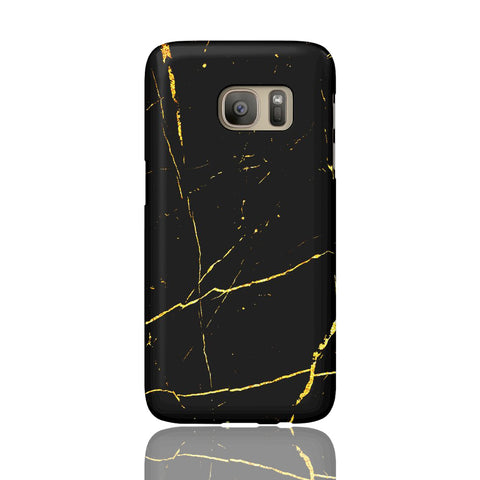 Black & Gold Marble Phone Case - Samsung Galaxy S7 - CinderBloq Cases & Accessories