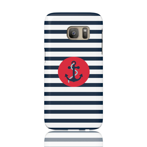 Navy Striped Anchor Phone Case - Samsung Galaxy S7 - CinderBloq Cases & Accessories