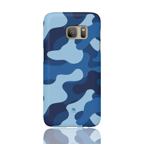 Blue Camo Phone Case - Samsung Galaxy S7 - CinderBloq Cases & Accessories