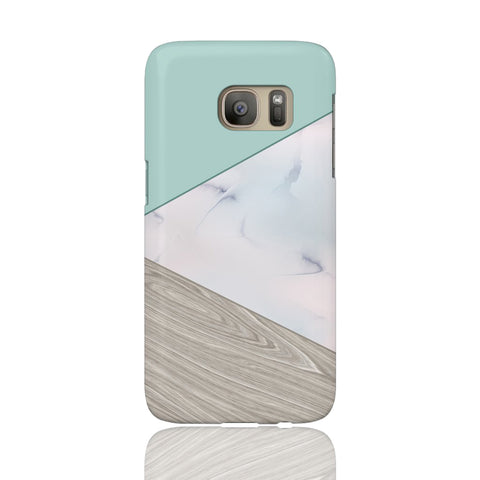 Mint Wood Marble Tangram Phone Case - Samsung Galaxy S7 - CinderBloq Cases & Accessories