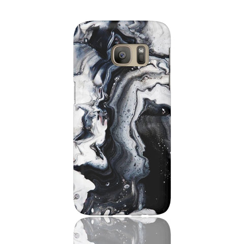 Black Ice Marble Phone Case - Samsung Galaxy S7 - CinderBloq Cases & Accessories