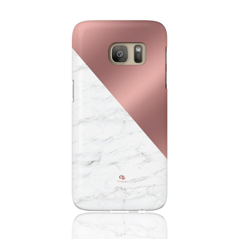 Rose Gold & Marble Phone Case - Samsung Galaxy S7