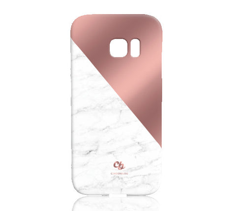 Rose Gold and Marble Phone Case - Samsung Galaxy S7 Edge - Cinderbloq Cases & Accessories