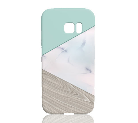 Mint Wood Marble Tangram Phone Case - Samsung Galaxy S7 Edge - Cinderbloq Cases & Accessories