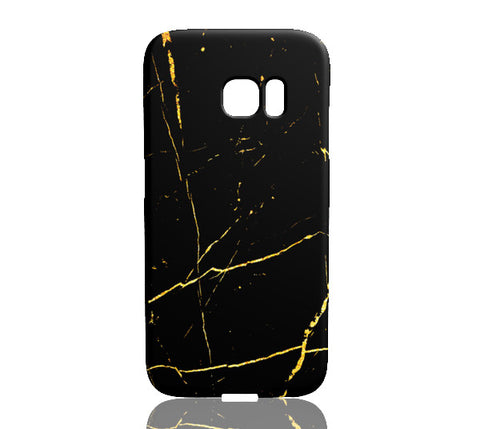 Black & Gold Marble Phone Case - Samsung Galaxy S7 Edge - CinderBloq Cases & Accessories
