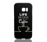 Coffee (Black) Phone Case - Samsung Galaxy S7 Edge - CinderBloq Cases & Accessories