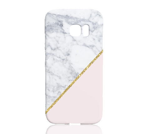 bd19a202c288 Pink Marble Gold Glitter Phone Case - Samsung Galaxy S7 Edge - Cinderbloq  Cases   Accessories