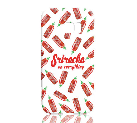 Sriracha Phone Case (White) - Samsung Galaxy S7 Edge - Cinderbloq Cases & Accessories