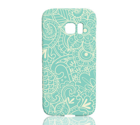 Paisley Print in Teal Phone Case - Samsung Galaxy S7 Edge - Cinderbloq Cases & Accessories