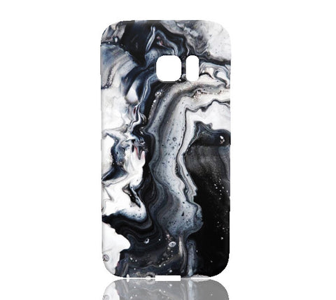 Black Ice Marble Phone Case - Samsung Galaxy S7 Edge - Cinderbloq Cases & Accessories