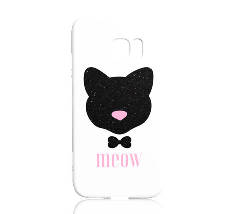 Meow! Glitter Cat Phone Case - Samsung Galaxy S7 Edge - Cinderbloq Cases & Accessories
