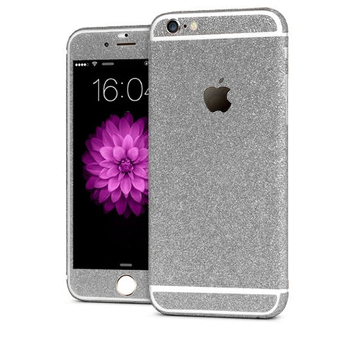 'All Blinged Out' Full Body Protective Glitter Decal Phone Skin (Silver) - Cinderbloq Cases & Accessories
