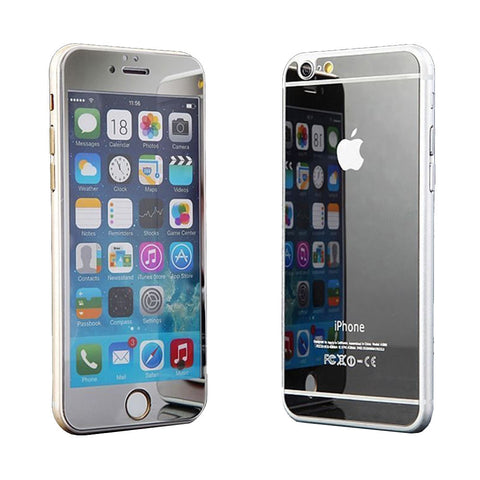 Tempered Glass Mirror Effect Chrome Screen Protector (Silver) - CinderBloq Cases & Accessories