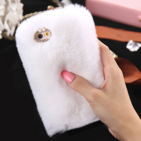D'Luxe Fur Phone Case (White) - iPhone 6 Plus / 6s Plus - Cinderbloq Cases & Accessories