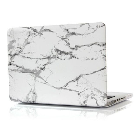 "White & Silver Marble Laptop Case for MacBook Pro NON-Retina Display (with CD-Rom) 15"" [A1286] (Silver Marble)"