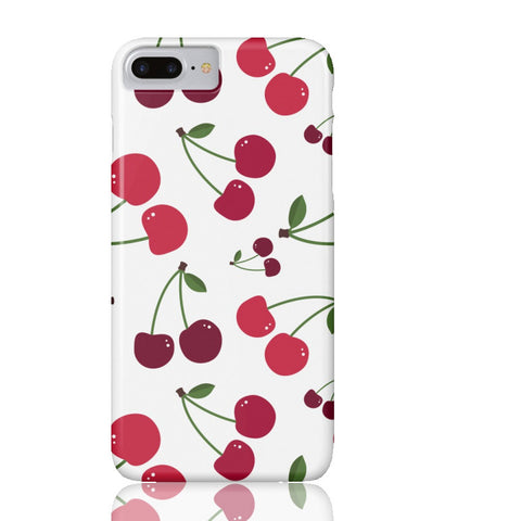 White Cherry Phone Case - iPhone 7 Plus - Cinderbloq Cases & Accessories