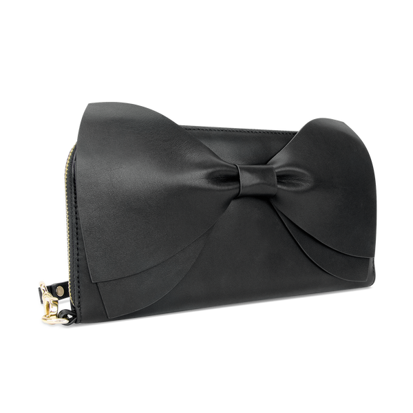 Sienna Jones Marina Clutch in Black leather