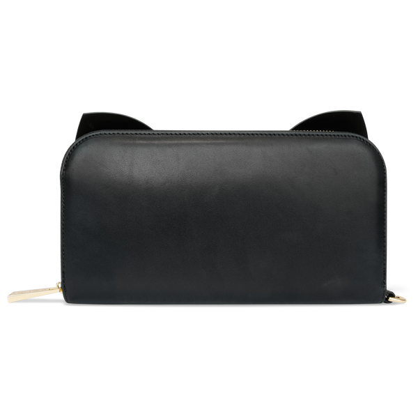 Sienna Jones Marina Clutch in Black leather - Reverse