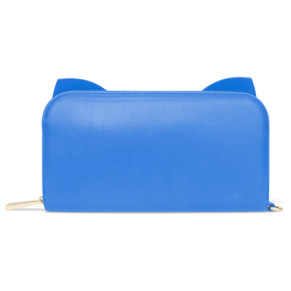 Sienna Jones Marina Clutch in Blue leather - Reverse