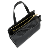 Sienna Jones Marina Bow Bag in Black - Gold zip