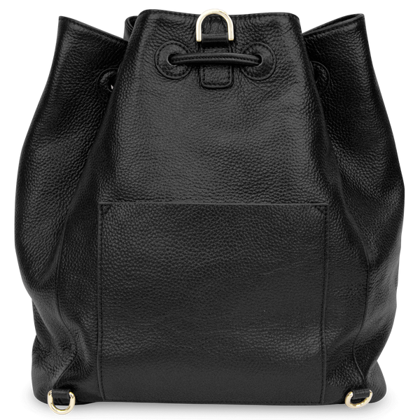 Sienna Jones Classic Bucket Bag in Black leather - Reverse