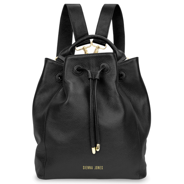 Sienna Jones Classic Bucket Bag in Black - Detachable straps