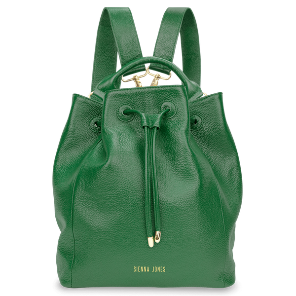 Sienna Jones Classic Bucket Bag in green - Detachable straps