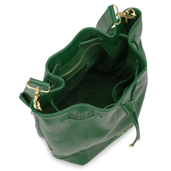 Sienna Jones Classic Bucket Bag in green - Fully lined