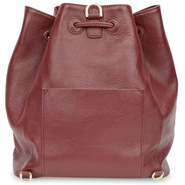 Sienna Jones Classic Bucket Bag in Red leather - Reverse