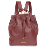 Sienna Jones Classic Bucket Bag in Red leather - Detachable straps
