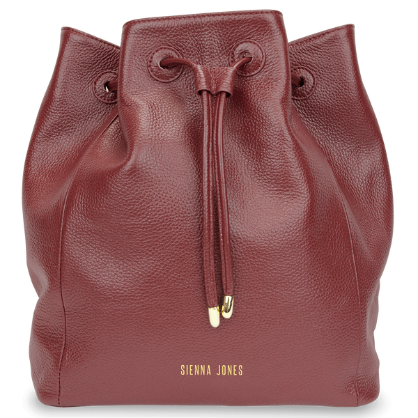 Sienna Jones Classic Bucket Bag in Red leather