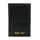 Sienna Jones Card holder - Gold embossed logo