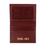 Sienna Jones card holder - Gold logo print