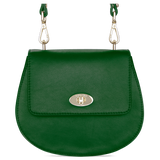 Sienna Jones Cross Body Bag in green leather