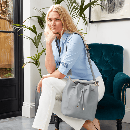 Classic Bucket Bag Dusky Blue