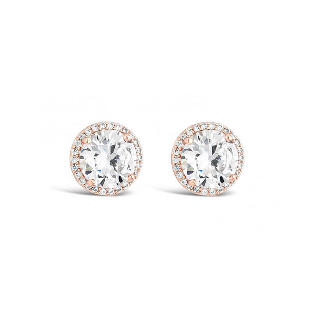 Rose Gold Plated Stud Earrings