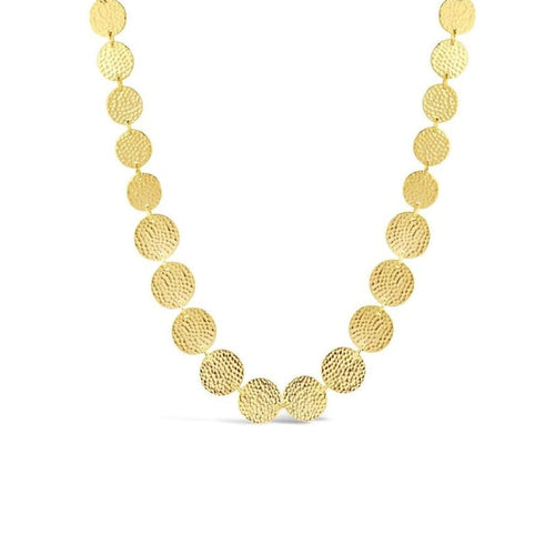 Gold Plated Disc Necklace