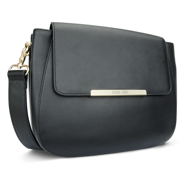 Sienna Jones Large Cross Body Black leather