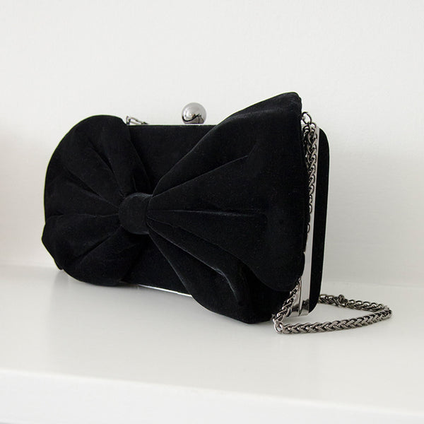 Limited Edition Black Bow Clutch