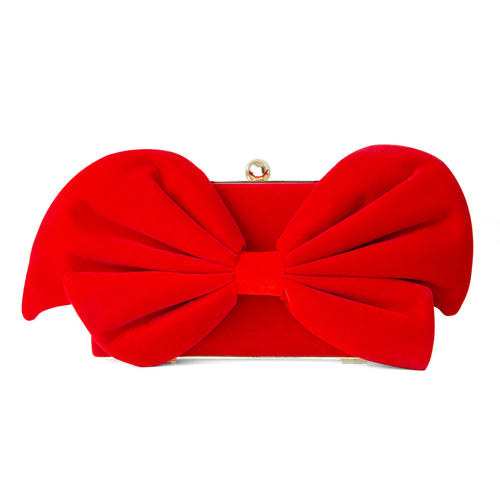 Limited Edition Bow Clutch - Red